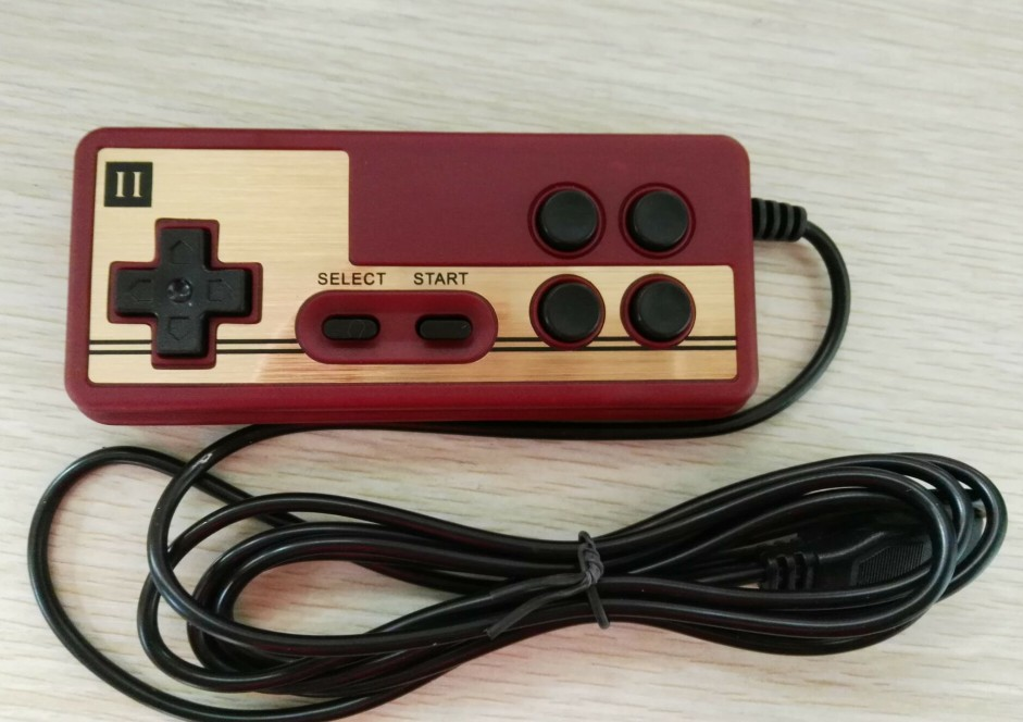 9 Pin Backup Game Controller  for Console Games   8bit TV GAME PLAYER FC red and white machine handle special game handle