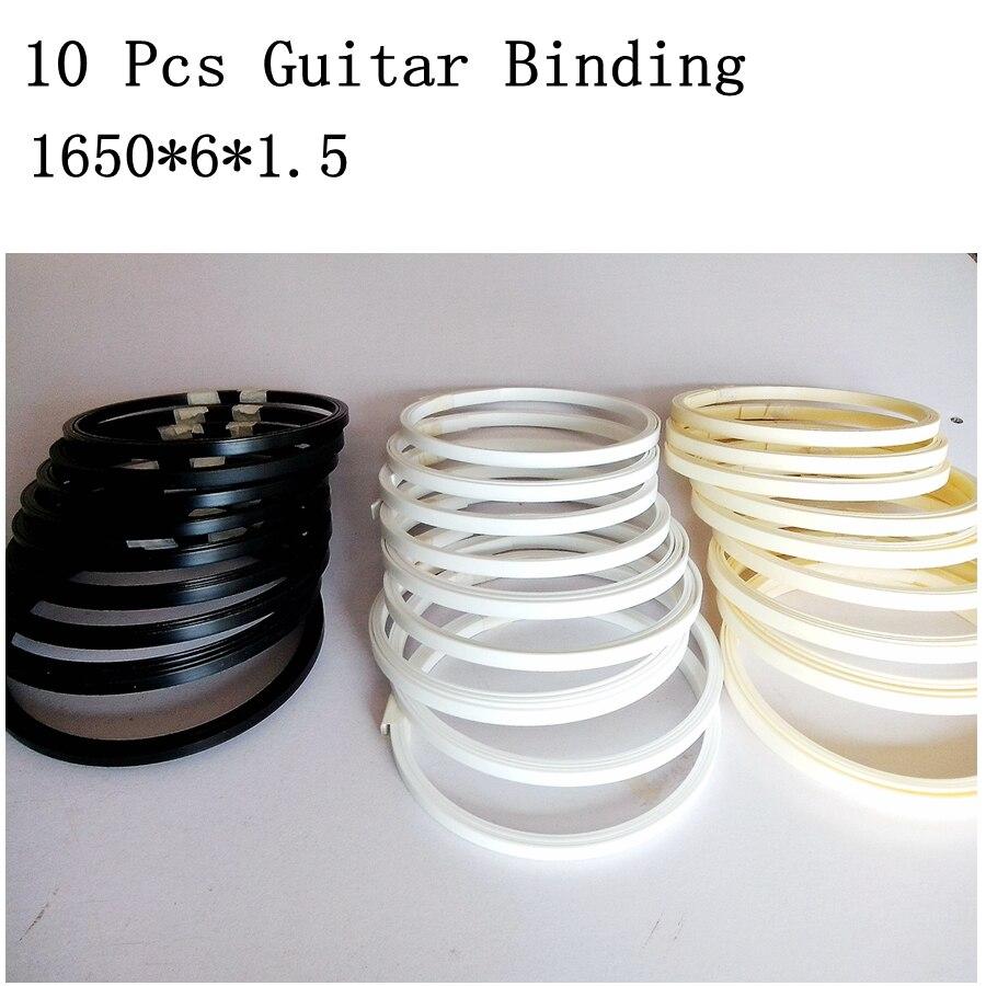 10 Pcs Guitar Binding Purfling Strips ABS Guitar Parts Accessories For Luthier Supplies Guitar Body Fingerboard Binding1650*6