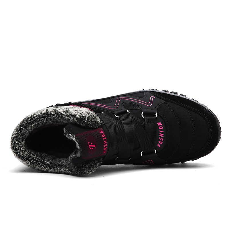 Super Warm Mannen Winter laarzen Unisex Kwaliteit Vrouwen Snowboots Voor Mannen Warme Waterdichte Winter Schoenen mannen Enkellaarsjes met Bont