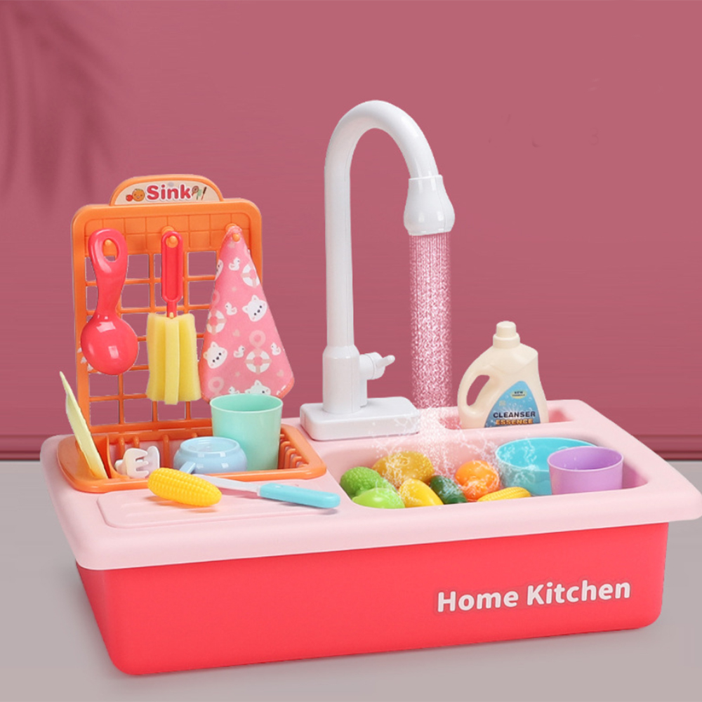 Kitchen Sink Toys Dishwasher Playing Toy With Running Water Automatic Faucets Play House Pretend Role Play Toys For Kids Kitchen Toys Aliexpress