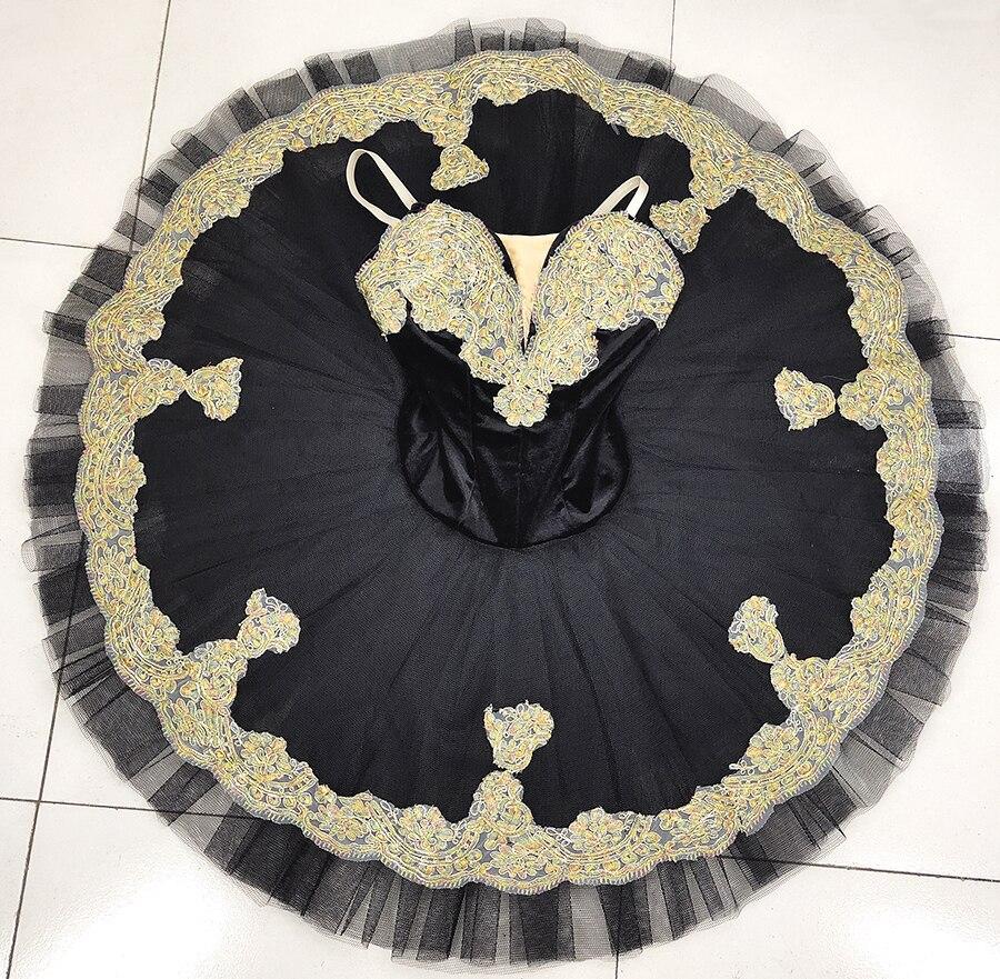 Adult Black swan lake ballet tutu women professional performance stage costume Tutu dress for girls