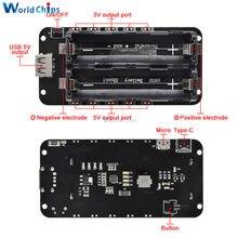 Podwójna bateria litowa 18650 V8 5V/3A 3V/1A moduł ładowania baterii banku mocy Micro USB dla Arduino ESP32 ESP8266 WIFI