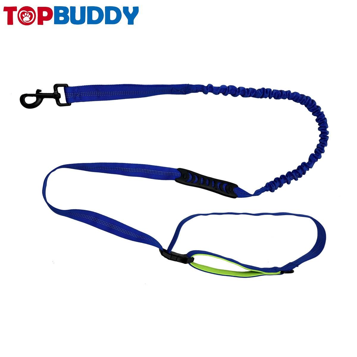 Pet Reflective Running Hand Holding Rope Elastic Nylon Explosion-Proof Dog Sports Hand Holding Rope Nylon Dog Rope