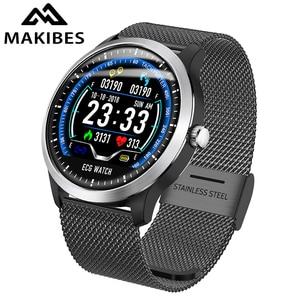 Image 1 - Makibes BR4 EKG PPG smart watch männer Mit elektrokardiogramm herz rate blutdruck smart band Fitness Tracker Doppel Elf
