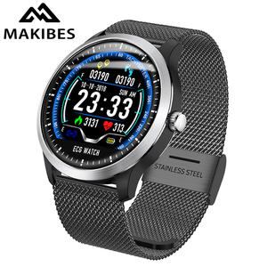 "Image 1 - Makibes BR4 אק""ג PPG smart watch גברים עם רל קצב לב לחץ דם חכם להקת גשש כושר כפול עשר"