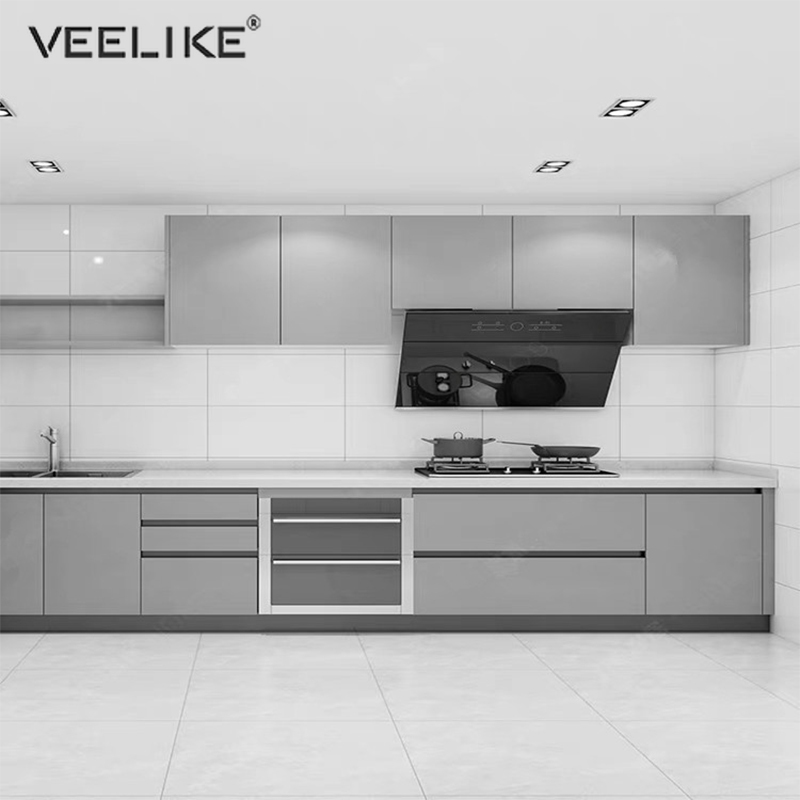 VEELIKE Sticky Back Plastic Roll Self Adhesive Grain Wood Contact Paper White Vinyl Wallpaper Kitchen Decor Sticky Wrap Stickers Wrapping Paper Sheets 40cm x 900cm
