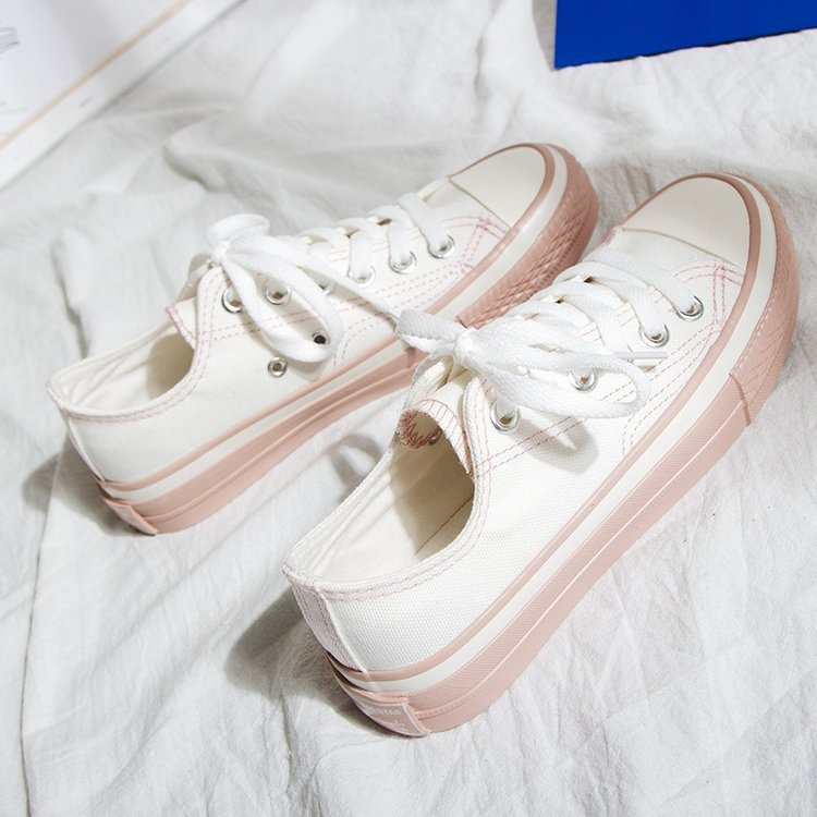2019 Women Vulcanized Sneakers Breathable Flat Casual Classic Shoes Woman Spring Autumn Canvas Shoes