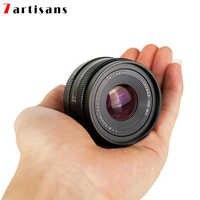 7 artesanos 50mm f1.8 para Canon EOS-M SONY E FUJI montaje FX M4/3 CameraPortrait gran apertura de la Lente de la Cámara de lente de enfoque Manual APS-C