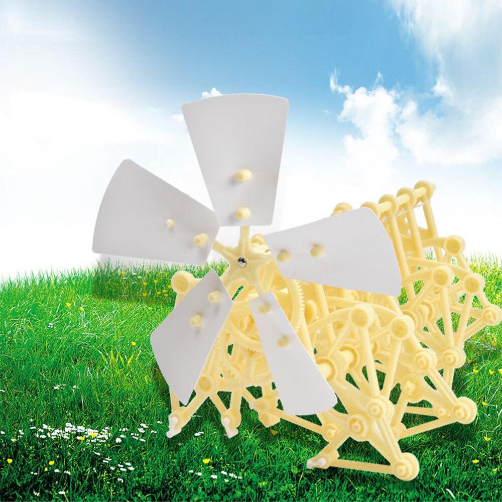 Kid's Toy Wind Power Bionic Beast Animal Technology DIY Children Toy Handmade Robot Wind Power Mechanical Beast Assembled Model