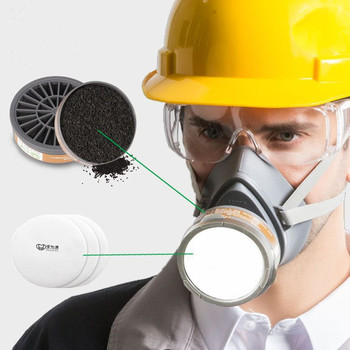 Gas masks With Filter activated carbon industrial protective Masks For spray paint odor chemical pesticide labor insurance 2017 new arrival hot selling respiration valve industrial gas masks activated carbon filter safety mask labor protection