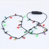 Mini luz intermitente para Navidad, disfraz de luces, collar, 8 bombillas LED, HSJ88, 1 Uds.