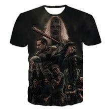 Newst 3D Printed T Shirt Men Women Fashion Casual T-shirtHorror TV Drama The Walking Dead Hip Hop Streetwear Oversized Tee Tops