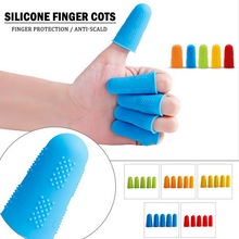 Silicone Finger Guard Kitchen Finger Protector Elastic Heat Resistant Non-slip Sleeve Scald-proof Anti-Burn Cot Cooking Tools