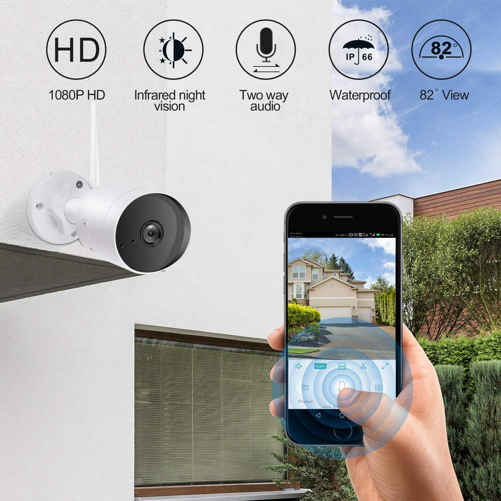 Ip-камера безопасности 1080P 2.0MP 3MP ONVIF наружная Водонепроницаемая H.264 IP66 CCTV Wifi камера 2,4G HD камера видеонаблюдения для дома ночное видение