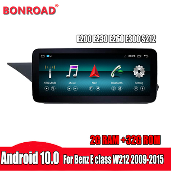 Bonroad IPS 10.25 Screen Android 10 Car gps radio For Mercedes benz E Class W212 2009-2015 car Navigation Multimedia Player image