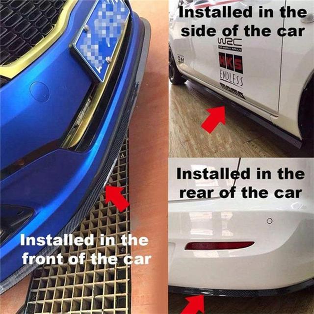 Фото high quality carbon fiber car door sill plate bumper guard protector
