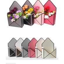 5 pçs 23cm x 8cm x 17cm novo envelope dobra flor caixa flores embrulho presente embalagem casa decoração buquê florista suprimentos