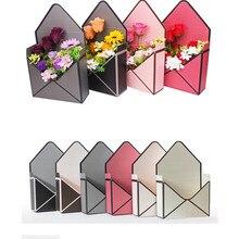 5PCS 23 ซม.x 8 ซม.x 17 ซม.ซองจดหมายใหม่พับกล่องดอกไม้ดอกไม้ห่อของขวัญบรรจุภัณฑ์หน้าแรกตกแต่งช่อดอกไม้อุปกรณ์