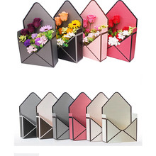 5PCS 23cm x 8cm x 17cm New Envelope Fold Flower Box Flowers Wrapping Gift Packaging Home Decoration Bouquet Florist Supplies