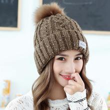 Women Knit Wool Hat Fall Winter Thick Warm Dome Cap Riding Accessories One Size 5 Colors