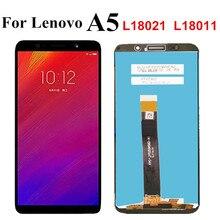 Pantalla LCD de 5,45 pulgadas para Lenovo A5 L18021 L18011 / A5s L18081LCD, montaje de digitalizador de Panel táctil para Lenovo A5
