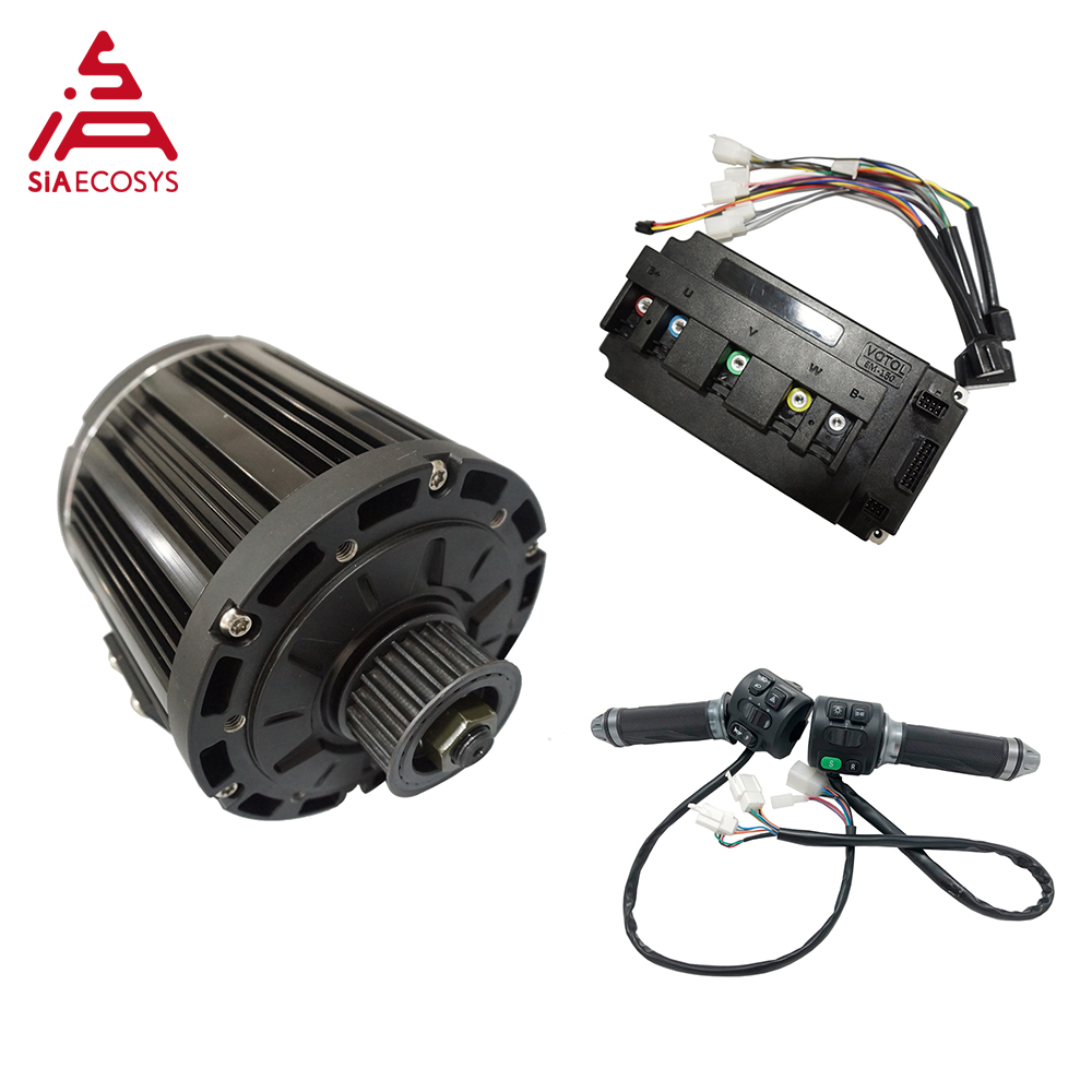 QS 138 3000W 72V 100KPH Old Appearance Mid Drive Motor With Motor Controller And Z6 Throttle