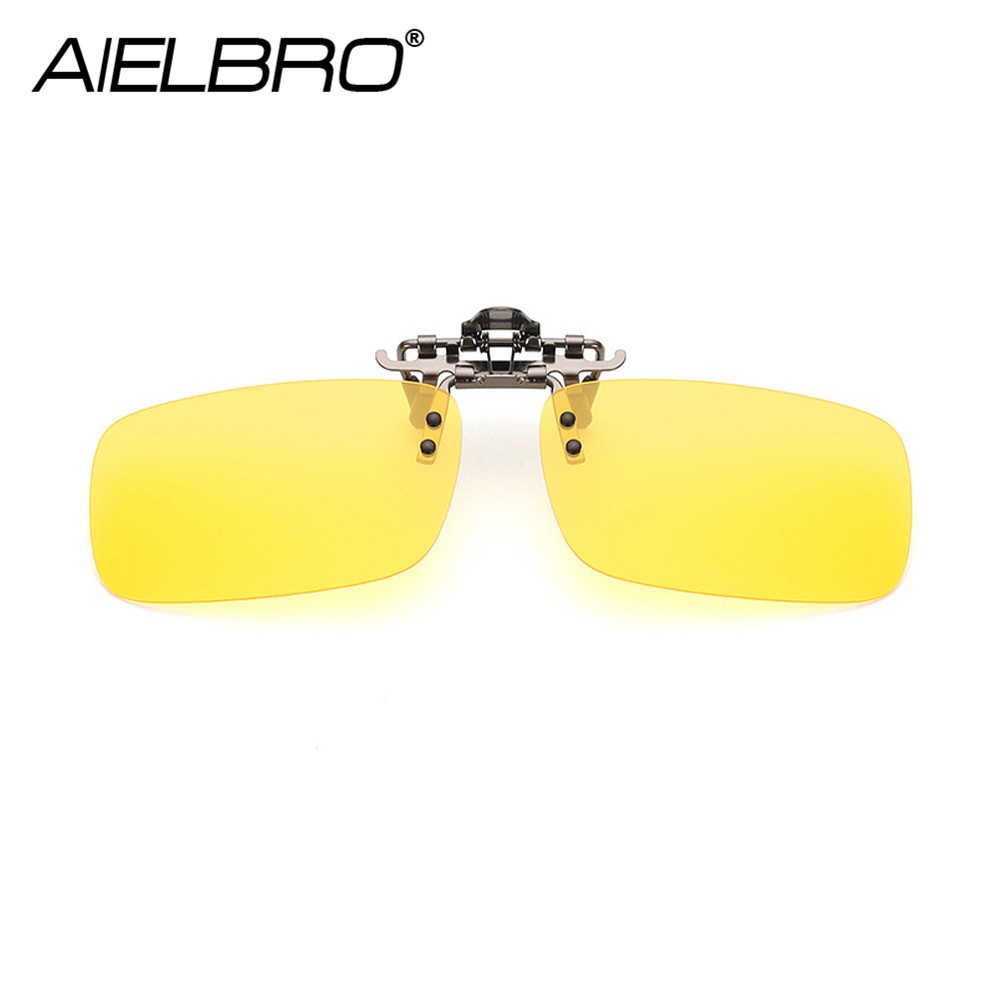 Men Square Clip on Polarized Night Driving Glasses Fishing Cycling Sunglasses Women Photochromic Sunglasses Clips for Myopic in Fishing Eyewear from Sports Entertainment