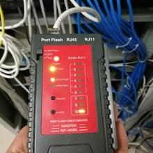 цена на NF-469L Network Cable Tester RJ45 RJ11 Tester for Ethernet LAN Cable Landline Phone Wire Testing Tool