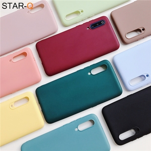candy color silicone phone case for samsung galaxy a50 a70 a30 a40 a20 a10 galaxi a51 a71 a20e m30s a7 2018 matte soft tpu cases(China)