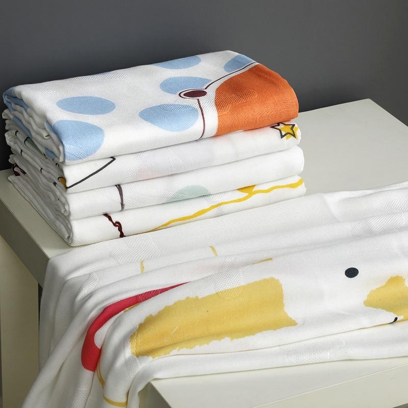 Newborn Baby Towel Baby Towel Pure Bamboo Fiber Soft Children's Blanket Cartoon Cart Cover Quilt