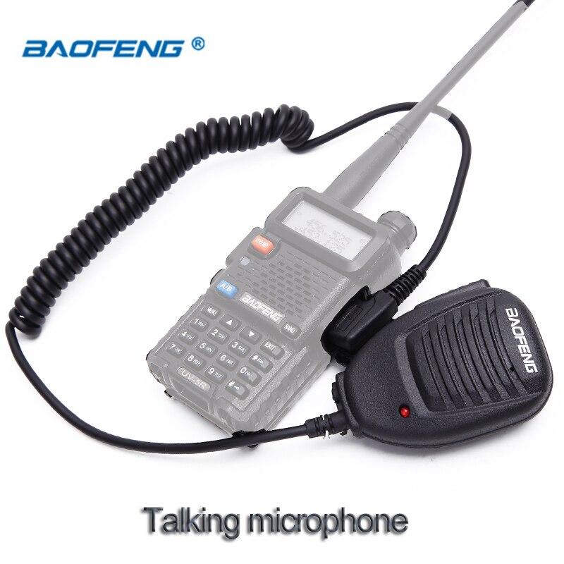 Baofeng Radio Speaker Mic Microphone PTT For Portable Two Way Radio Walkie Talkie UV-5R UV-5RE UV-5RA Plus UV-6R UV82 KSUN-X3