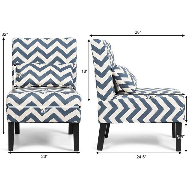 Set of 2 Armless Accent Chairs  2
