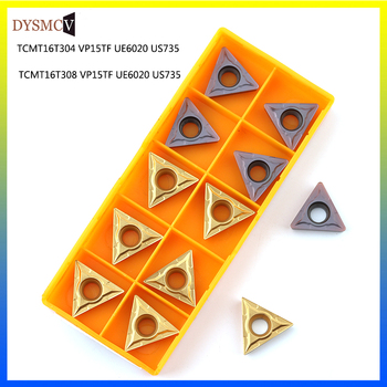 10pcs TCMT16T304 TCMT16T308 VP15TF UE6020 carbide blade metal turning tool CNC tools can be indexed TCMT  cutting - discount item  52% OFF Machinery & Accessories