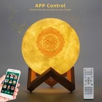 Bluetooth Speakers Wireless Muslim Night Light Quran speakers 3D Moon With APP control Quran Speaekr Koran Touch Lamp 2