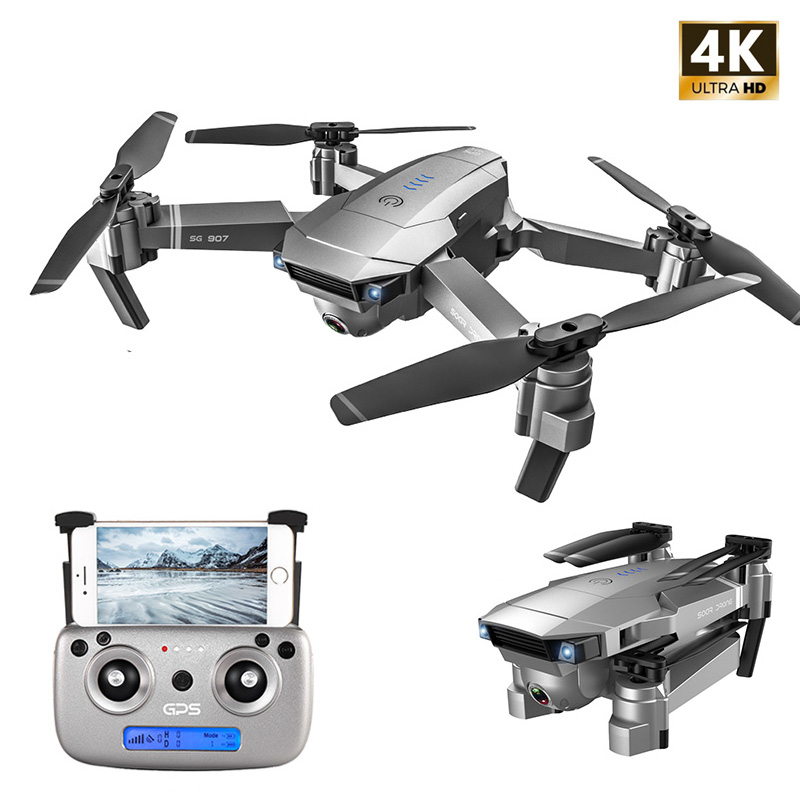 SG907 GPS Drone mit Kamera 4K 5G Wifi RC Quadcopter Optischen Fluss Faltbare Mini Eders 1080P HD kamera Drone VS E520S E58 XS812
