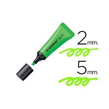Rotulador stabilo fluorescente neon Verde