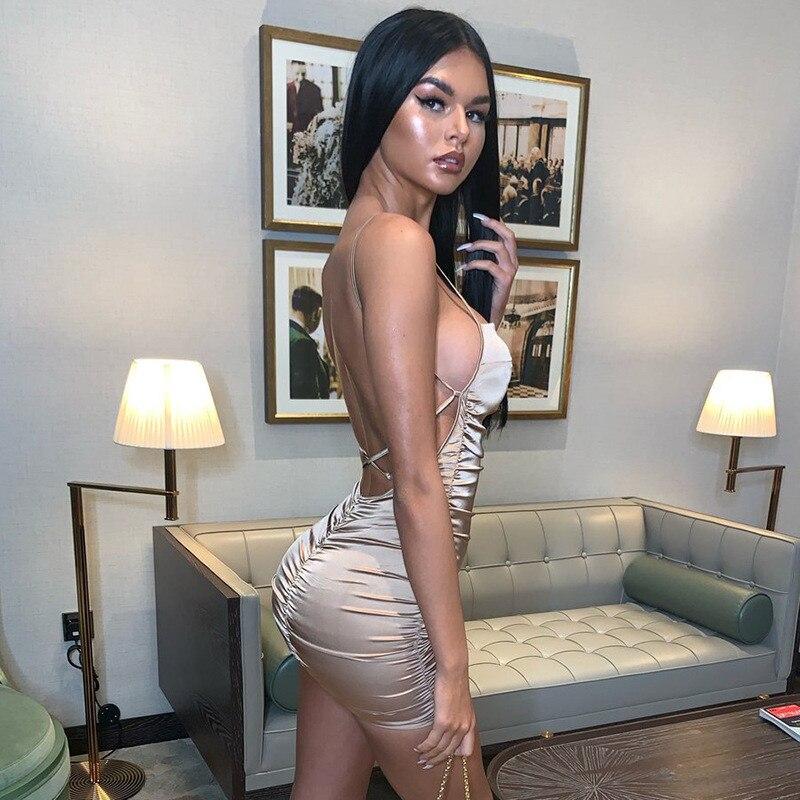 mini satin dress15