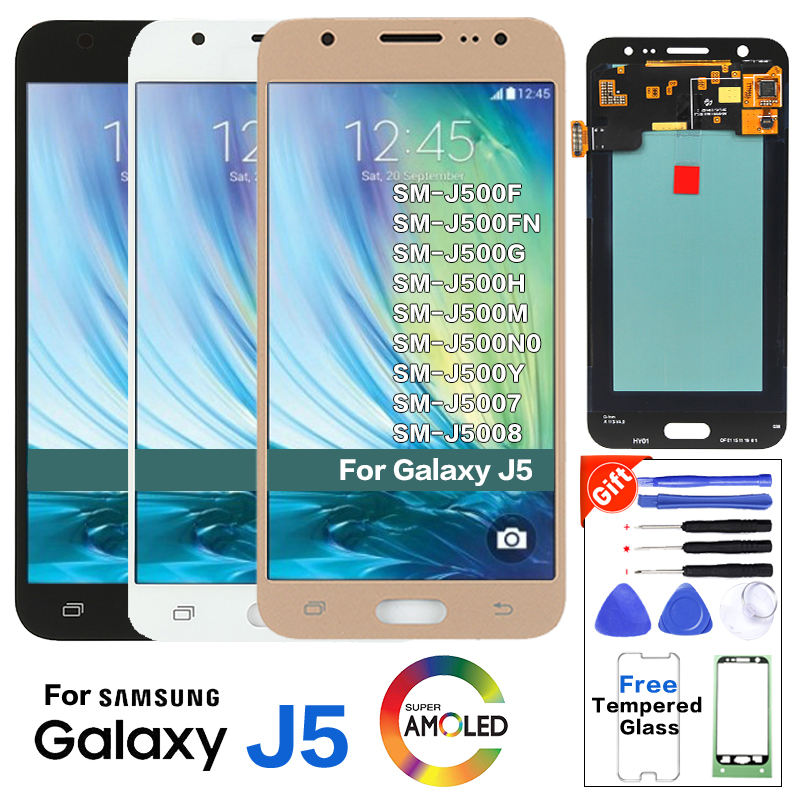 Original <font><b>Amole</b></font> For SAMSUNG Galaxy J5 <font><b>J500</b></font> SM-J500F J500FN Display lcd Screen Replacement SM-J500G J500M Mobile phone lcd display image