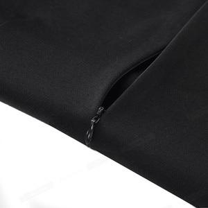 Image 4 - נחמד לנצח בציר ניגודיות צבע טלאים עבודת vestidos הולו מתוך O צוואר המפלגה עסקי Bodycon משרד נשים שמלת B482