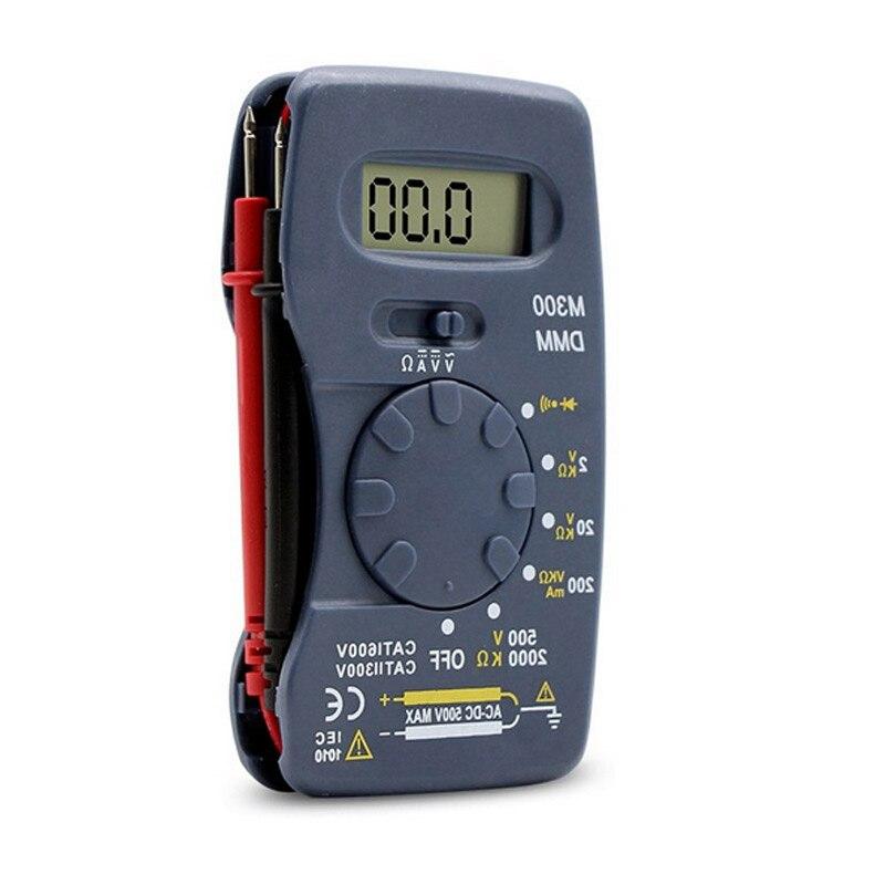 Multimètre portatif délectricien daffichage à cristaux liquides de testeur de multimètre numérique de M300/DT83B/multimètre portatif de contre-jour de mètre de tension de cc