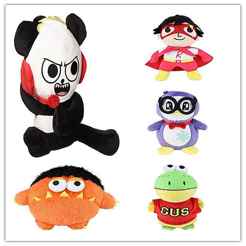18CM Ryan's World Plush Toys Cartoon Panda Penguin Stuffed Dolls Super Ryan Toy Adventure Kids Christmas/Festival Gift