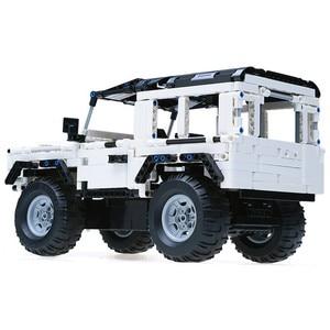 Image 2 - テクニックシリーズ 553 個ディフェンダーrcカーモデルsuv diyビルディングブロック車のレンガのおもちゃ子供の互換