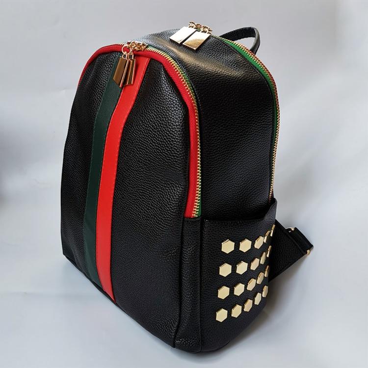 H370bab74dd1e4c64b966aab11493cfc9r Luxury Famous Brand Designer Women PU Leather Backpack Female Casual Shoulders Bag Teenager School Bag Fashion Women's Bags