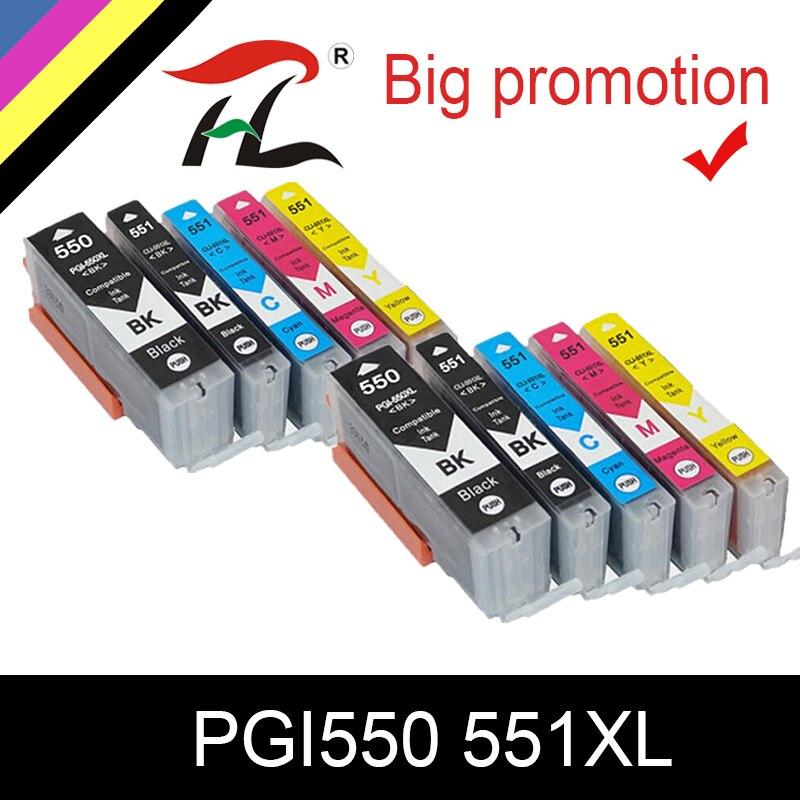 HTL PGI550XL pgi 550 CLI-551 XL чернильный картридж PGI550 CLI551 для Canon PIXMA IP7250 MG5450 MX925 MG5550 6450 5650