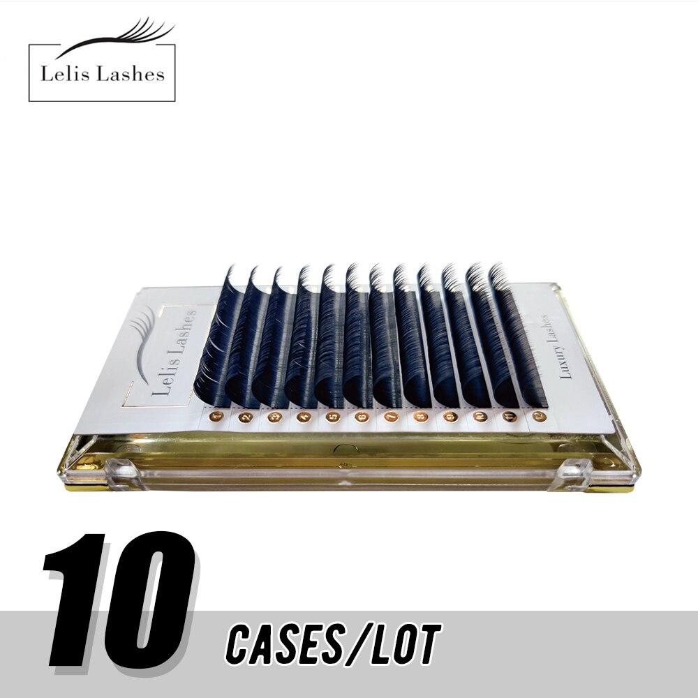 10 чехол/лот Make Up супер длинные легко дуя накладные ресницы для наращивания, для детей от 8 до 16 мм быстро Цветущий 2d-20d дуя ресницы для наращив...