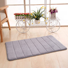 Home Coral Fleece Bathroom Mat Non-slip Memory Foam Rug Soft Floor Carpet Water Absorption Bath Mat Carpet Floor decor(China)