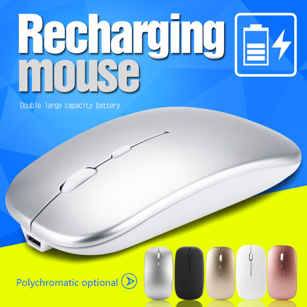 M80 2.4G Wireless Rechargeable Mouse Ultra-Thin Silent Mute Office Notebook Charging Mice Opto-electronic For Office PC Laptop