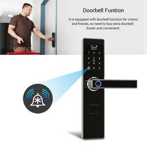 Image 3 - Tuya חכם דלת מנעולי טביעת אצבע עמיד למים אפליקציה Keyless usb נטענת דיגיטלי מנעול דלת