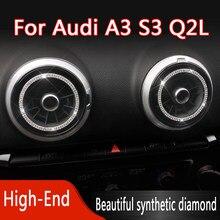 Para audi a3 s3 q2l diamante carro modificado central decorar capa quadro de saída ar guarnição interior do carro auto montagem