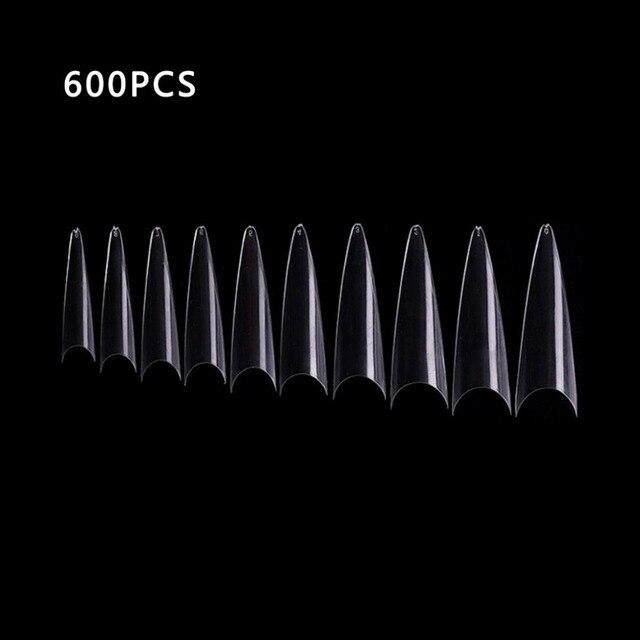 600 искусственная Накладка для ногтей прозрачная акриловая французского
